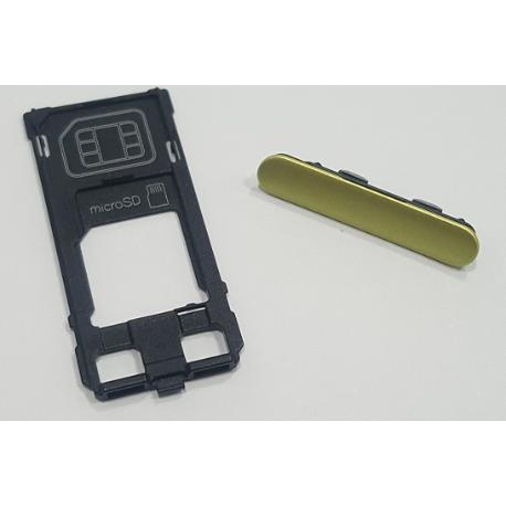 SOPORTE BANDEJA SIM + SD PARA SONY XPERIA XZS G8232 - AMARILLO