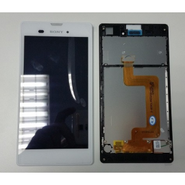 Pantalla Lcd + Tactil con Marco Original Sony Xperia T3 D5102 D5103 D5106 M50W Blanco
