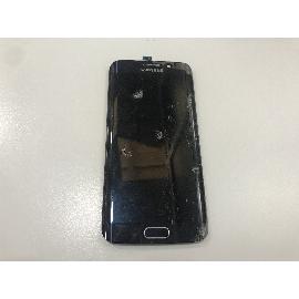 PANTALLA LCD + TACTIL ORIGINAL SAMSUNG GALAXY S6 EDGE SM-G925F NEGRA CON CRISTAL ROTO - PARA REPARAR
