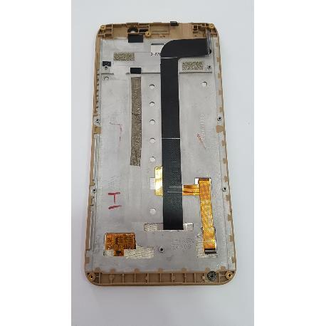 PANTALLA LCD + TACTIL CON MARCO PARA CUBOT DINOSAUR ORO - RECUPERADA