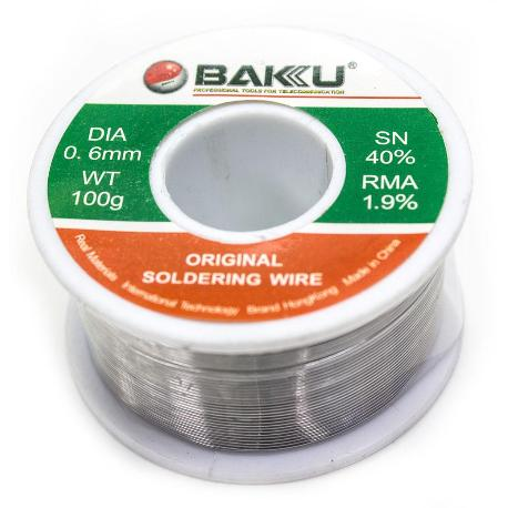 ESTAÑO DE 0.6MM Y 100G - BAKU