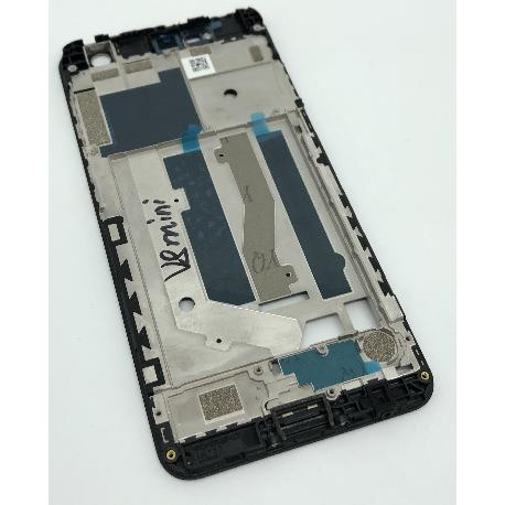 CARCASA FRONTAL DE LCD PARA ZTE BLADE V8 MINI - NEGRA