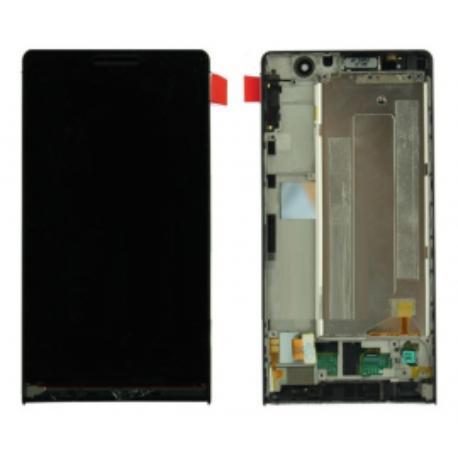 PANTALLA TACTIL + LCD DISPLAY CON MARCO PARA HUAWEI ASCEND P6 - NEGRA USADA