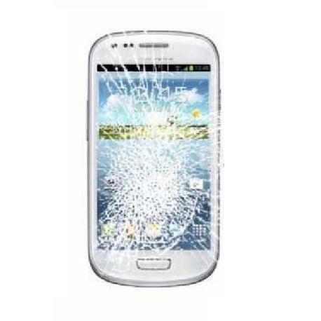 PANTALLA LCD + TACTIL ORIGINAL SAMSUNG GALAXY S3 MINI  CON CRISTAL ROTO - PARA REPARAR
