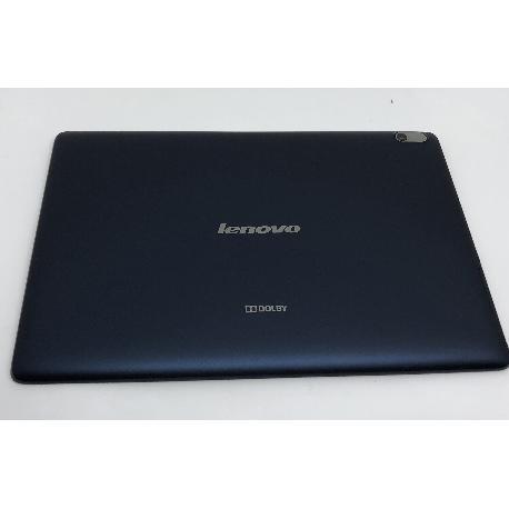 CARCASA TAPA TRASERA TABLET LENOVO A7600 A7600-F ( CON TAPADERA DE SIM SD ) - USADA