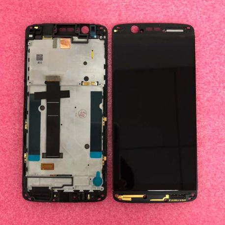 PANTALLA LCD DISPLAY + TACTIL CON MARCO PARA ZTE AXON 7 MINI - NEGRA