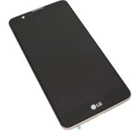 PANTALLA LCD DISPLAY + TACTIL CON MARCO ORO ORIGINAL PARA LG STYLUS 2 K520 - NEGRO