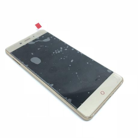 PANTALLA LCD DISPLAY + TACTIL CON MARCO PARA ZTE NUBIA Z11 - ORO