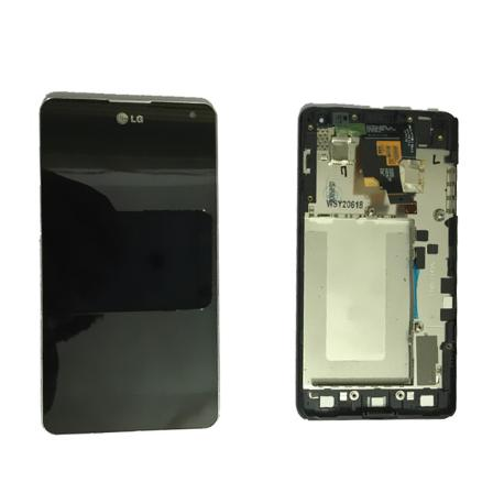 REPUESTO PANTALLA LCD DISPLAY + TACTIL + MARCO ORIGINAL  LG E975 OPTIMUS G - NEGRA / RECUPERADA