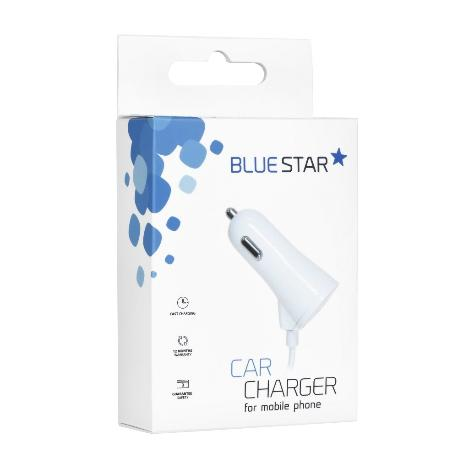 CARGADOR DE COCHE IPHONE CON CABLE Y PUERTO USB 3A BLUE STAR