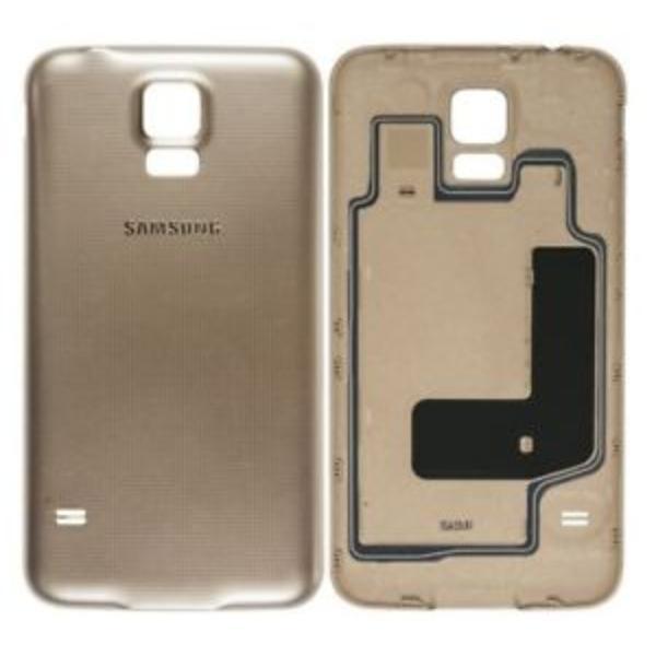 cfeee172544 Tapa Trasera de Bateria Original para Samsung Galaxy S5 Neo G903F - Oro