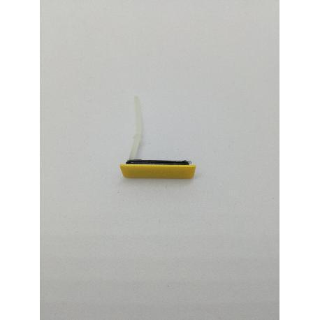 TAPA PROTECTORA RANURA DE CONECTOR MICRO USB ORIGINAL SONY XPERIA GO ST27I - AMARILLO