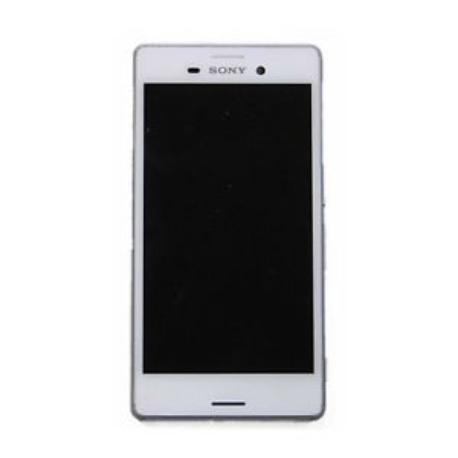 REPUESTO PANTALLA LCD + TACTIL CON MARCO SONY XPERIA M4 AQUA E2303 - BLANCO / DESMONTAJE