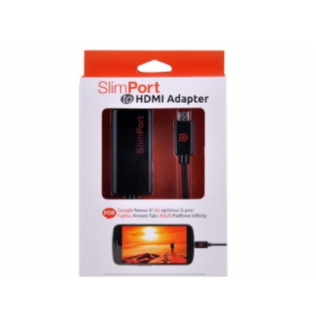 CABLE ADAPTADOR SLIMPORT HDMI HD PARA LG ,NEXUS MHL TV.