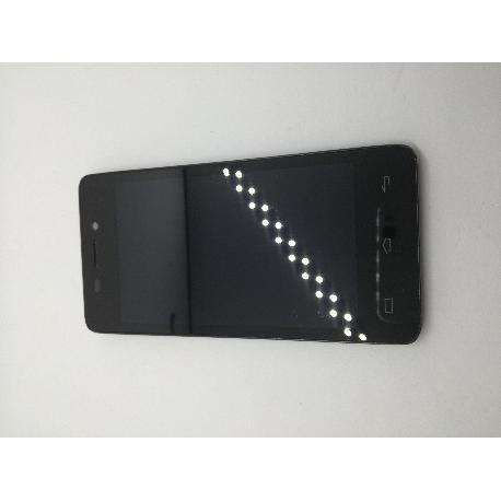 REPUESTO PANTALLA LCD +TACTIL CON MARCO ORIGINAL BQ AQUARIS E4 NEGRA - RECUPERADA