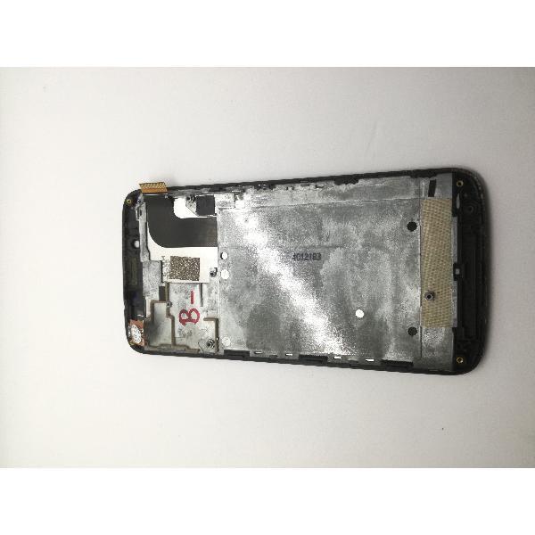PANTALLA LCD DISPLAY + TACTIL CON MARCO PARA BQ AQUARIS 5 HD - NEGRA / CON TARA (MACHAS BLANCAS EN EL LCD)