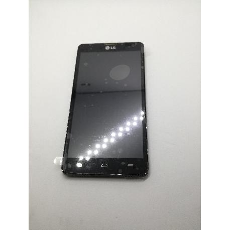 PANTALLA LCD DISPLAY + TACTIL CON MARCO LG OPTIMUS L9 II D605 - NEGRA