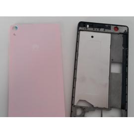 Carcasa Intermedia + Tapa Trasera Huawei Ascend P6 Rosa