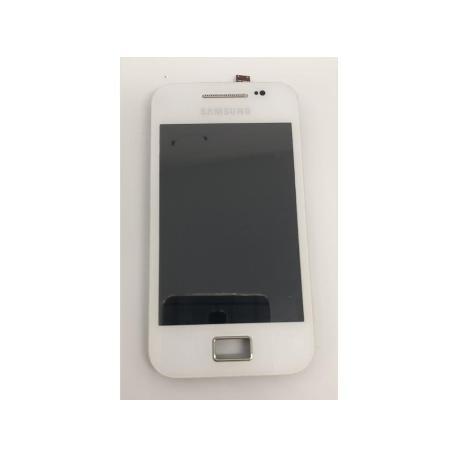 PANTALLA LCD DISPLAY + TACTIL ORIGINAL SAMSUNG ACDE S5830I BLANCA - RECUPERADA