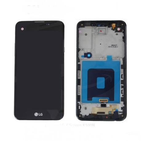 PANTALLA LCD DISPLAY + TACTIL CON MARCO ORIGINAL PARA LG K500N X SCREEN,K500, X SCREEN - NEGRA