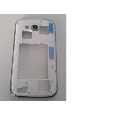 Carcasa Trasera Intermedia con Lente de Camara Samsung Galaxy Grand Duos I9082 Blanca