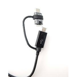 CABLE 2EN1 MICRO USB+USB-C SAMSUNG EP-DG950 - NEGRO