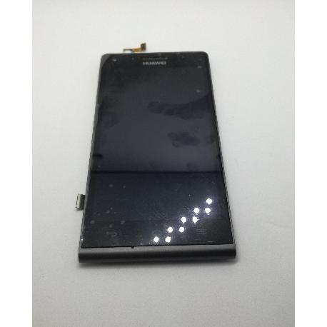 RESPUESTO PANTALLA LCD + TACTIL CON MARCO ORIGINAL HUAWEI ASCEND G6 - NEGRA