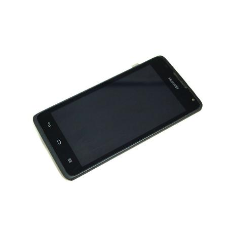 PANTALLA LCD + TACTIL CON MARCO ORIGINAL PARA HUAWEI Y530 NEGRA - RECUPERADA