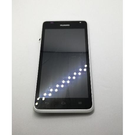 PANTALLA LCD + TACTIL CON MARCO ORIGINAL PARA HUAWEI Y530 BLANCA - RECUPERADA