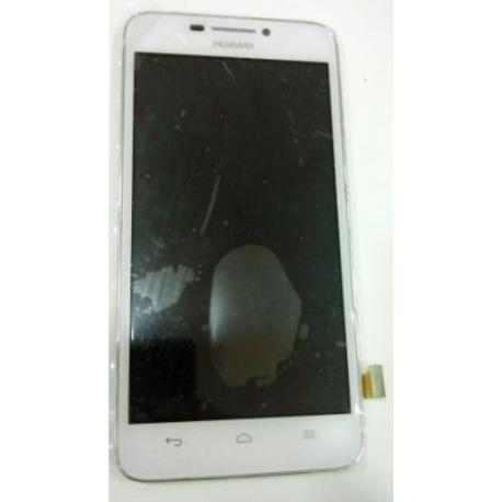 PANTALLA LCD DISPLAY + TACTIL CON MARCO ORIGINAL PARA HUAWEI ASCEND G630 - BLANCO