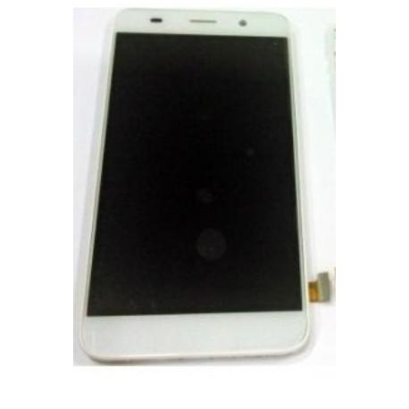 PANTALLA TACTIL + LCD DISPLAY CON MARCO PARA HUAWEI Y6 4G (SCL-L01) HONOR 4A - BLANCA