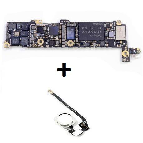 PLACA BASE LOGIC BOARD MOTHERBOARD IPHONE 5S LIBRE 32GB (BOTON HOME BLANCO) - RECUPERADA