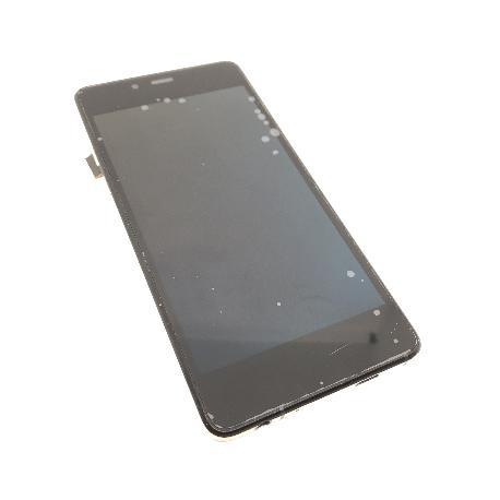 PANTALLA LCD DISPLAY + TACTIL CON MARCO ORIGINAL WIKO HIGHWAY PURE 4G NEGRA - RECUPERADA