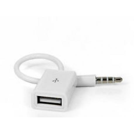 Cable Adaptador Audio de Jack Macho a USB Hembra