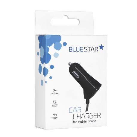 CARGADOR DE COCHE CON CABLE USB-C Y PUERTO USB 3A BLUE STAR