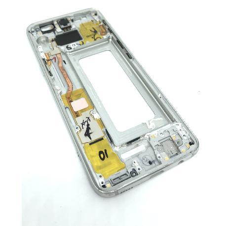 CARCASA FRONTAL LCD PARA SAMSUNG S8 - PLATA - DESMONTAJE