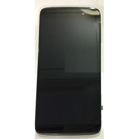 PANTALLA TACTIL + LCD DISPLAY CON MARCO ORIGINAL PARA ALCATEL IDOL 4 6055 - NEGRA USADA