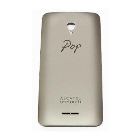 TAPA TRASERA ORIGINAL ALCATEL ONE TOUCH POP STAR 3G 5022D - ORO RECUPERADA
