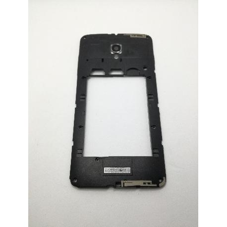 CARCASA INTERMEDIA ORIGINAL PARA ALCATEL ONE TOUCH POP STAR 3G 5022D- NEGRA RECUPERADA