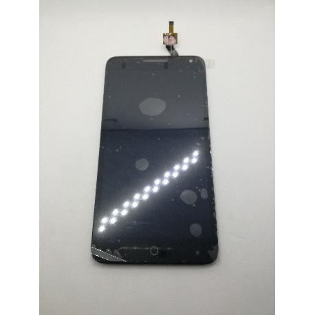 PANTALLA LCD DISPLAY + TACTIL CON MARCO ORIGINAL ALCATEL ONETOUCH POP 3 (5.5) 5025 NEGRA - RECUPERADA
