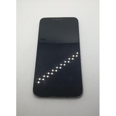 PANTALLA LCD + TACTIL CON MARCO ORIGINAL PARA ALCATEL IDOL 2 OT-6037 NEGRA - RECUPERADA