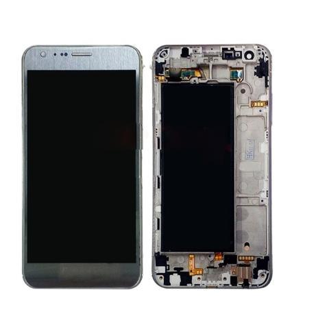 PANTALLA LCD DISPLAY + TACTIL CON MARCO ORIGINAL PARA LG K580 X-CAM - PLATA