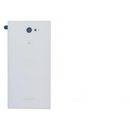 Tapa trasera Bateria Original Sony Xperia M2 D2303 D2305 D2306 Blanca de Desmontaje