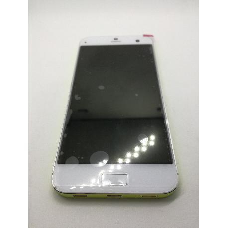 PANTALLA LCD DISPLAY + TACTIL CON MARCO AMARILLO PARA ZTE BLADE S7 - BLANCO