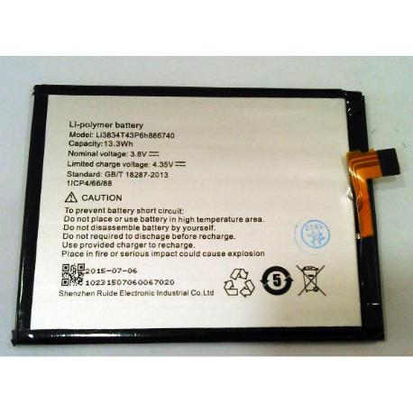 BATERIA ORIGINAL LI3834T43P6H886740 UMI EMAX 3500MAH
