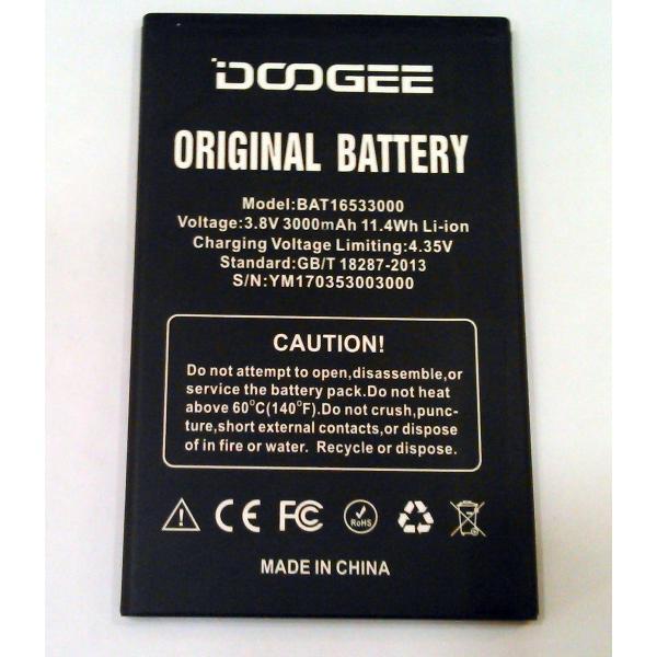BATERIA ORIGINAL BAT16533000 DOOGEE X9, X9 PRO 3000MAH