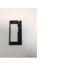 Carcasa Intermedia Con lente De camara Original Huawei G740 Orange Yumo - Recuperada
