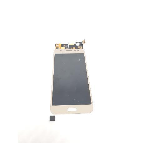 PANTALLA LCD DISPLAY + TACTIL CON MARCO ORIGINAL PARA SAMSUNG GALAXY J5 SM-J500F ORO - RECUPERADA