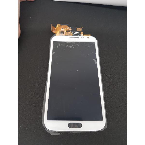 PANTALLA LCD DISPLAY + TÁCTIL SIN MARCO PARA SAMSUNG GALAXY NOTE 2 N7100 COLOR BLANCO - RECUPERADA