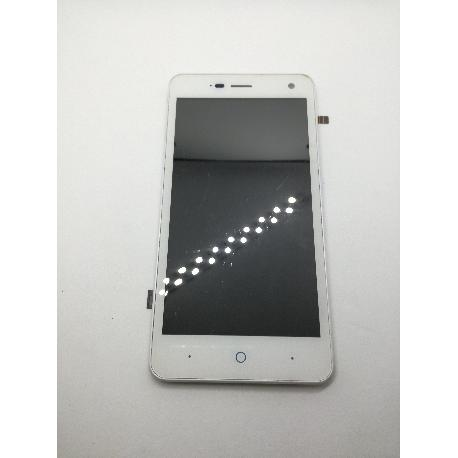 PANTALLA LCD + TACTIL CON MARCO ORIGINAL PARA ZTE BLADE L3 BLANCA - RECUPERADA